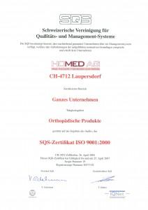 SQS-Zertifikat